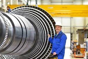 Großteilebearbeitung für Turbinen von Flugzeugen