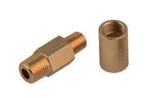 Kupferdrehteile mit Gewinde für den Gerätebau