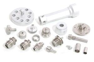 Auswahl verschiedener CNC-Drehteile
