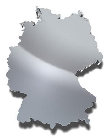 Ansicht der Deutschlandkarte mit den regionalen Bundesländern